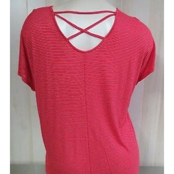 Faded Glory Tops - **CORAL** Faded Glory Cross-Back Top